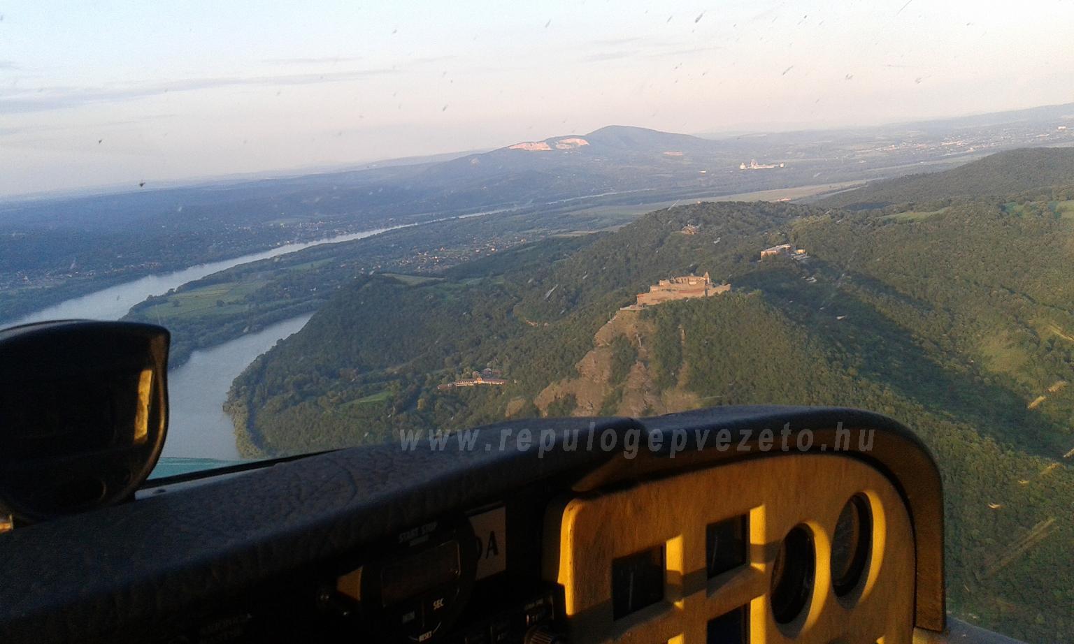 Visegrádi vár naplementés sétarepülés