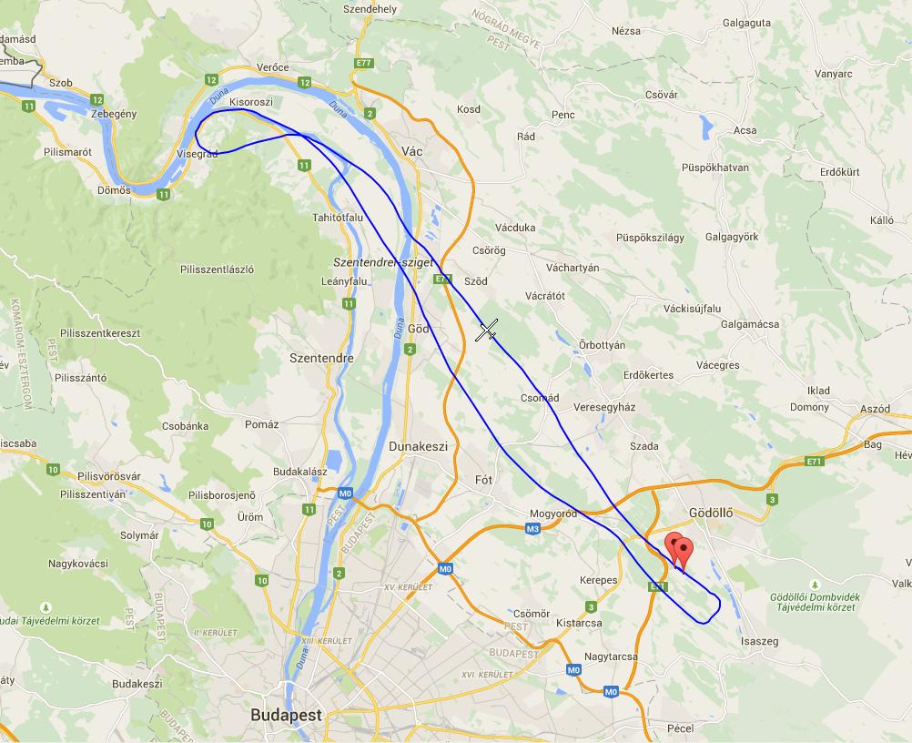 Dunakanyar Visegrád sétarepülés útvonal